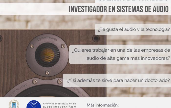 Nueva oferta de contrato predoctoral. Sistemas de audio de alta calidad