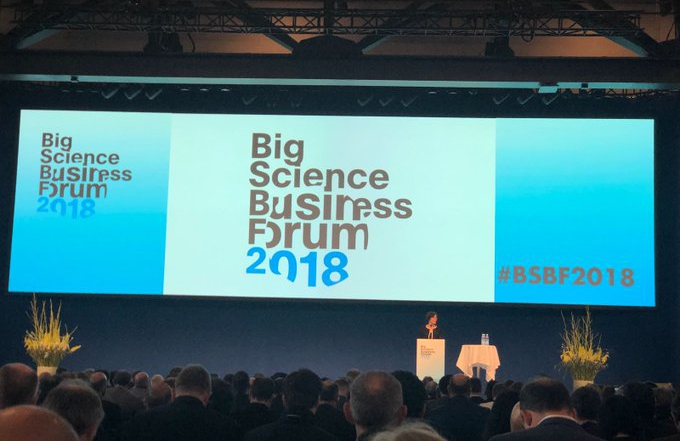 Presencia en el Big Science Business Forum 2018